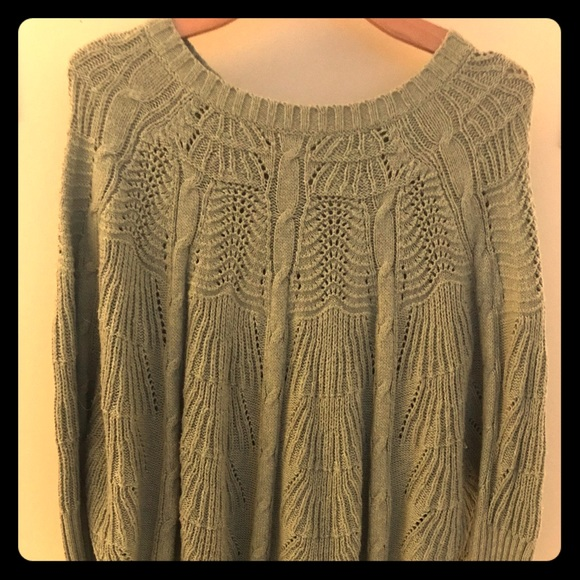 Anthropologie Sweaters - Mint Green Knitted Poncho